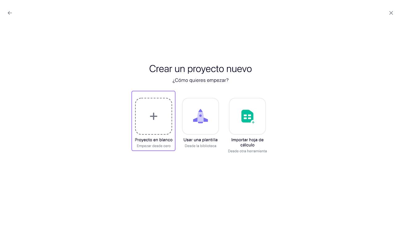 crear un proyecto 2