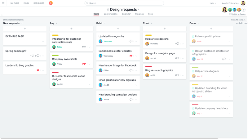 Track work requests easily in Asana