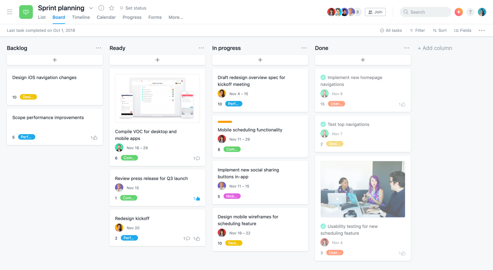 Plan your sprints in Asana with boards