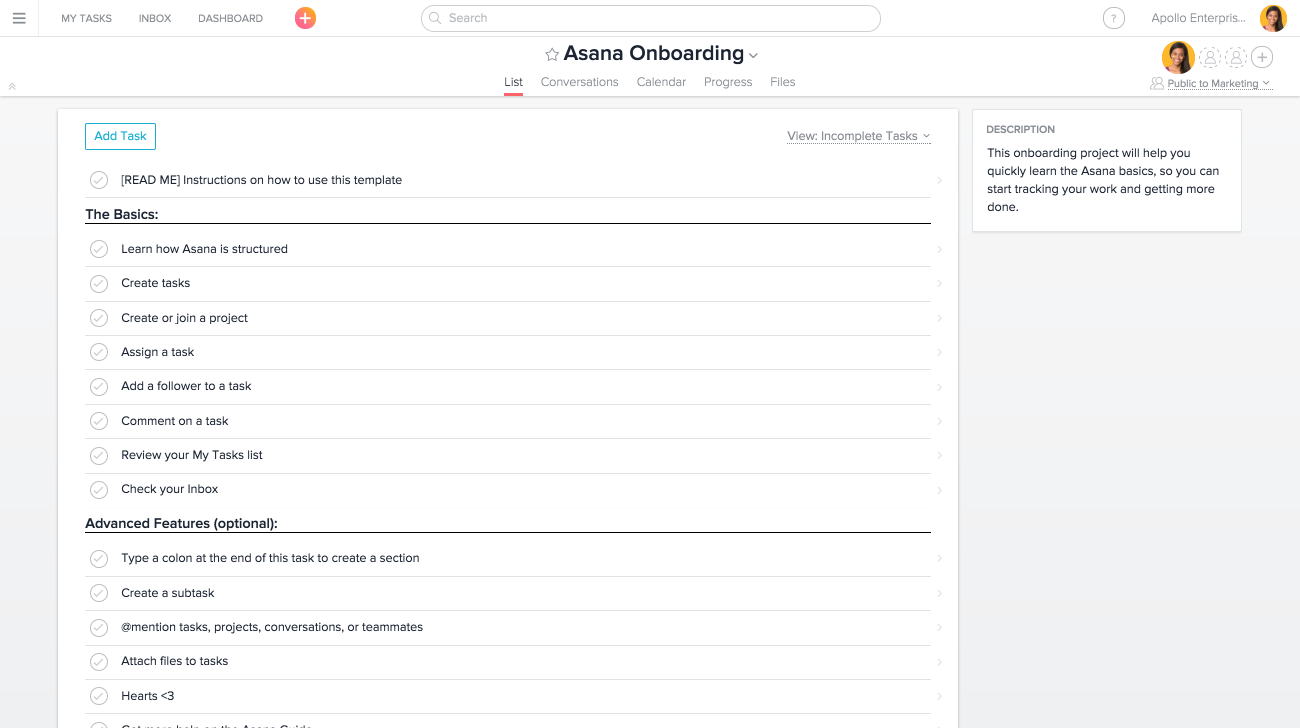 Ways to save time in asana product guide asana for Asana task template