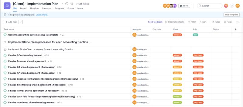 Client implementation template