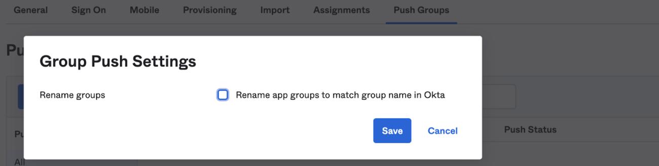 push groups
