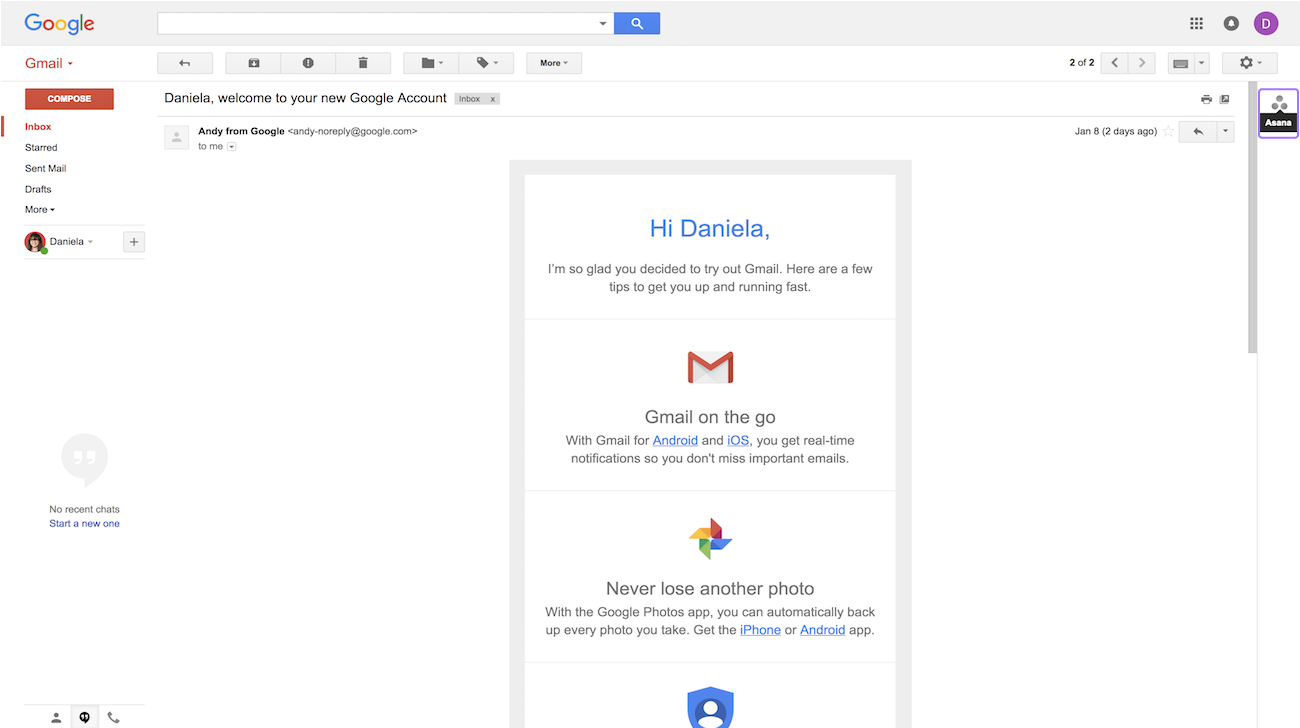 Gmail Add-On · Asana