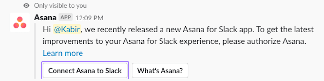authentification Slack