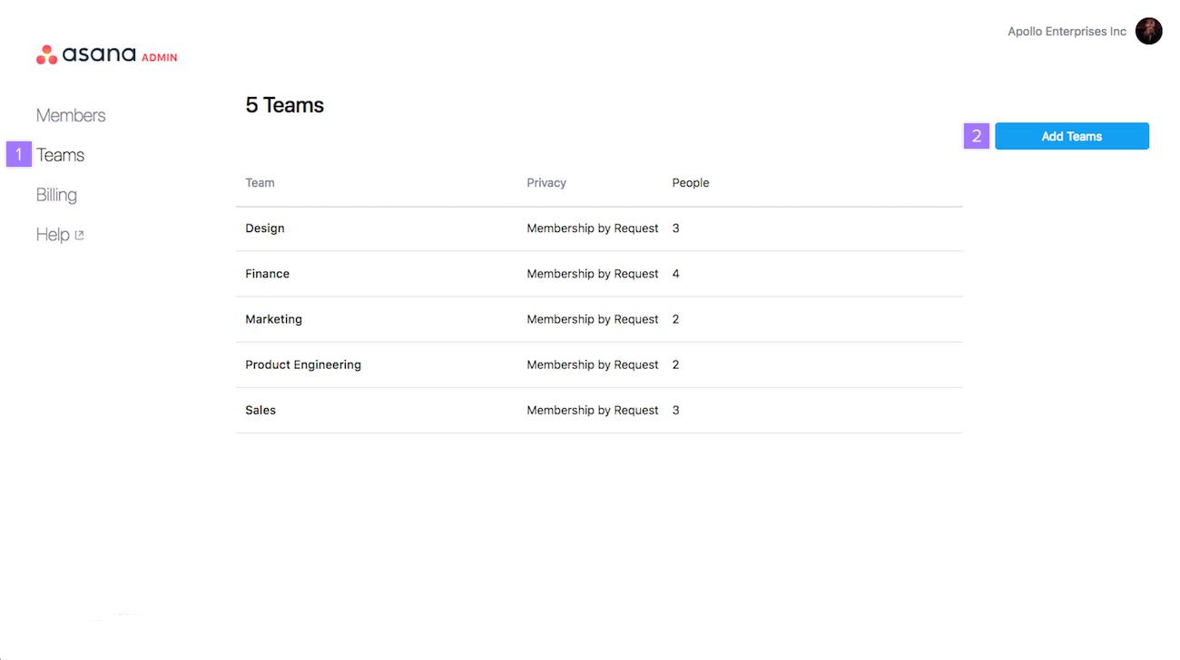Adding Teams 1