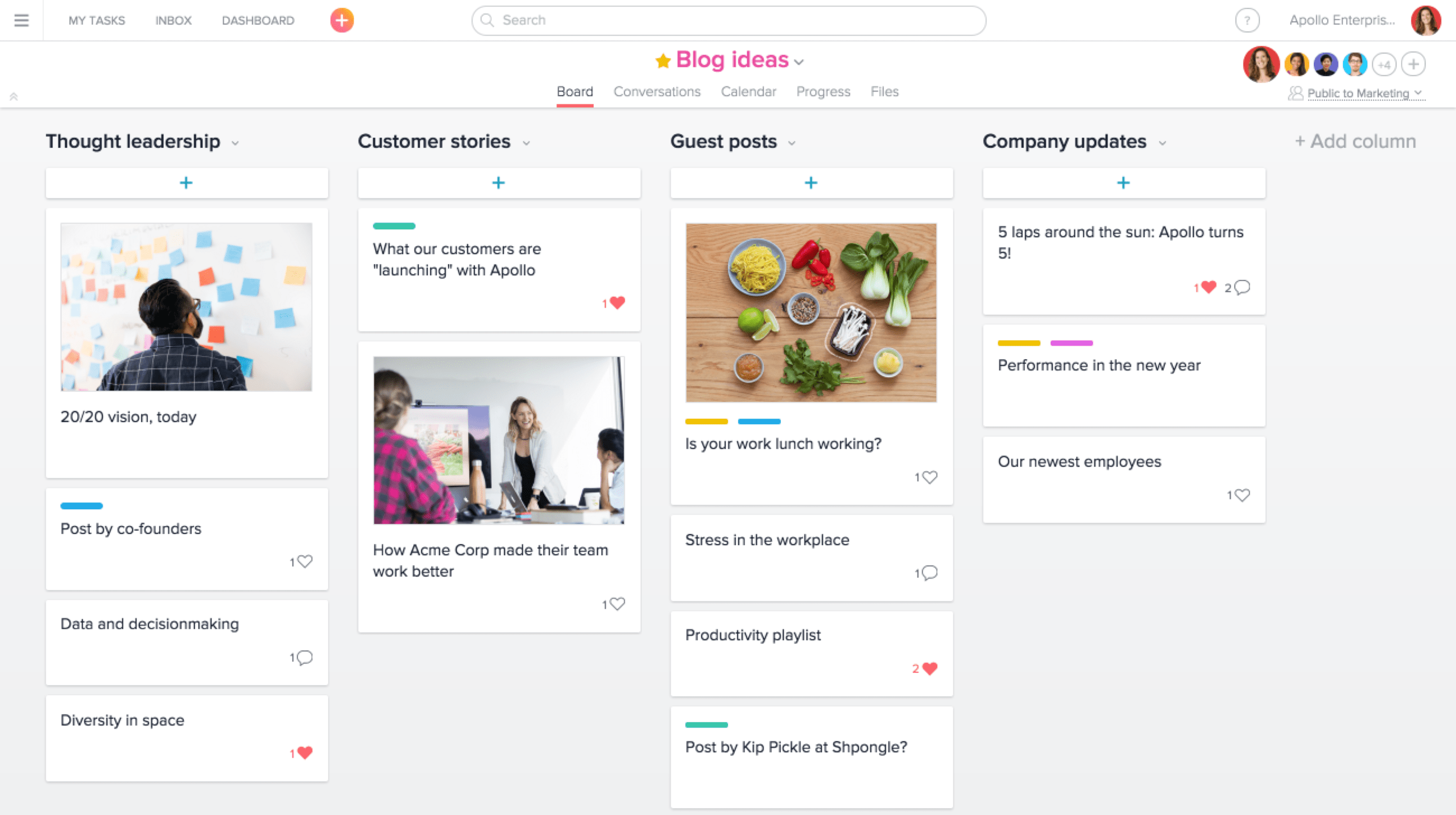Asana Product Screenshot