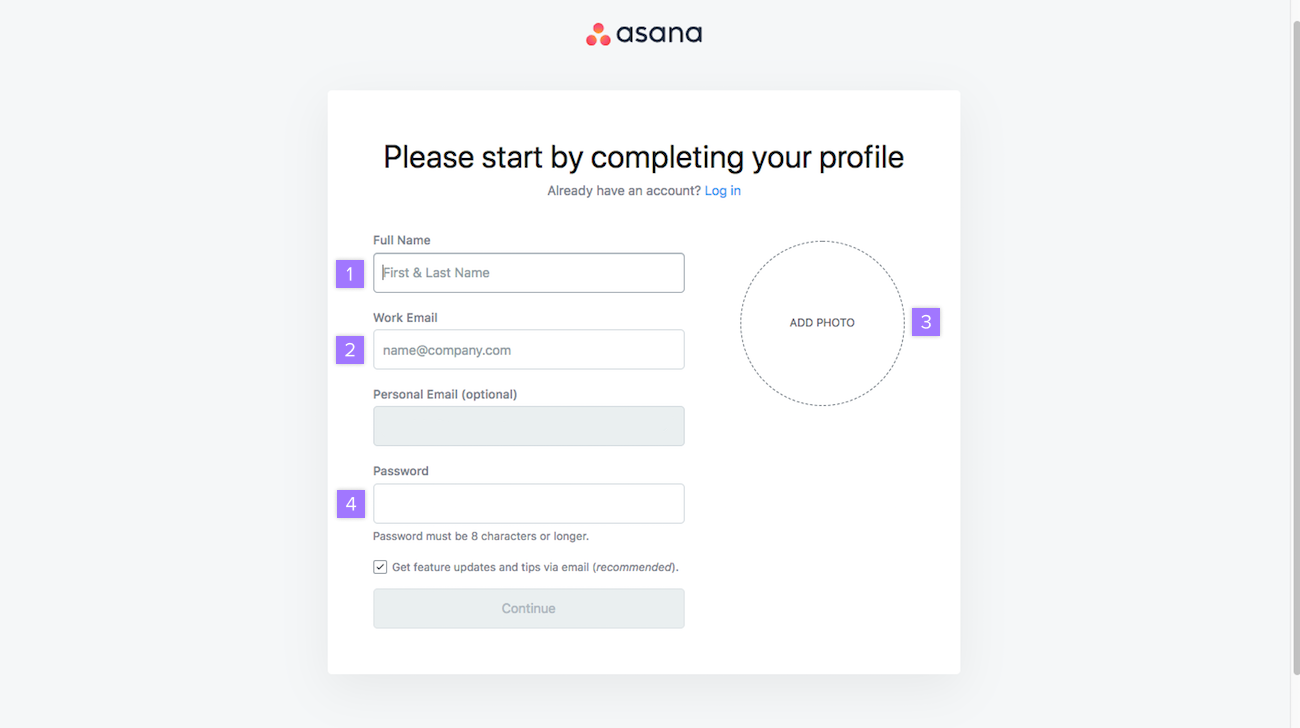 Managing your account settings | Product guide · Asana