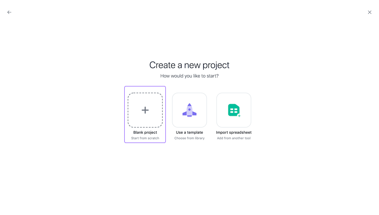 create a project 2