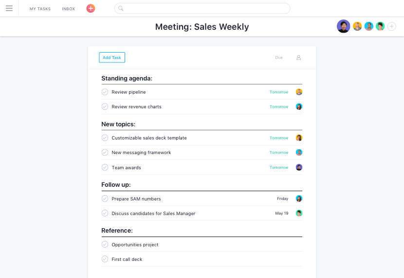 agendas de reuniones