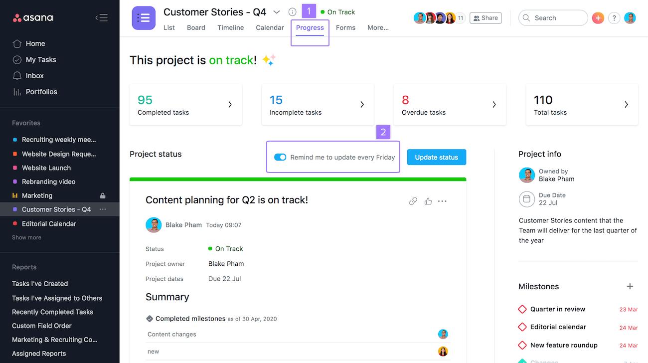 desativar lembretes de atualização de status