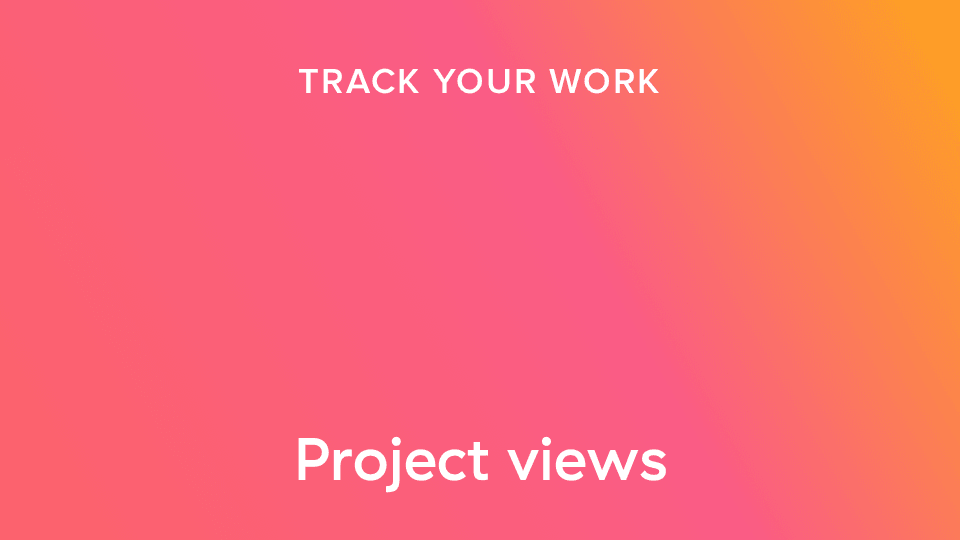 visualizações de projeto