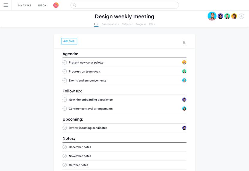 Ordres du jour des réunions