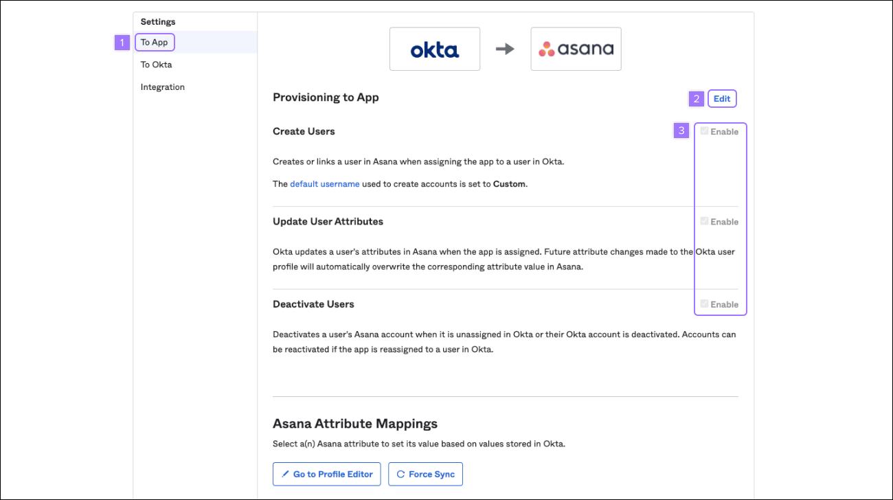 okta provisioning options