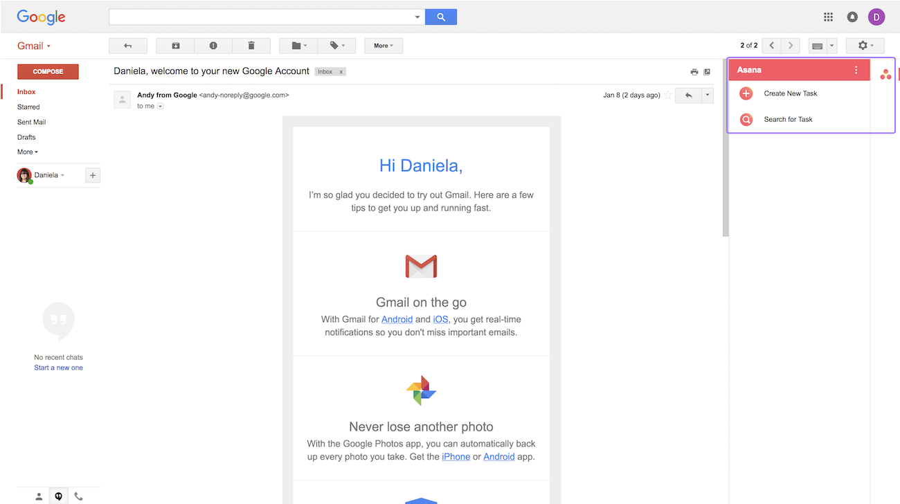 gmail add-on create a task