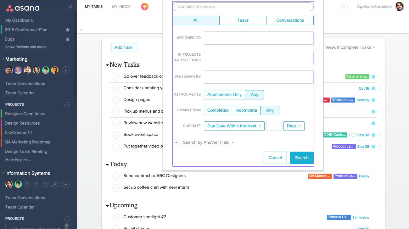 Match advanced search