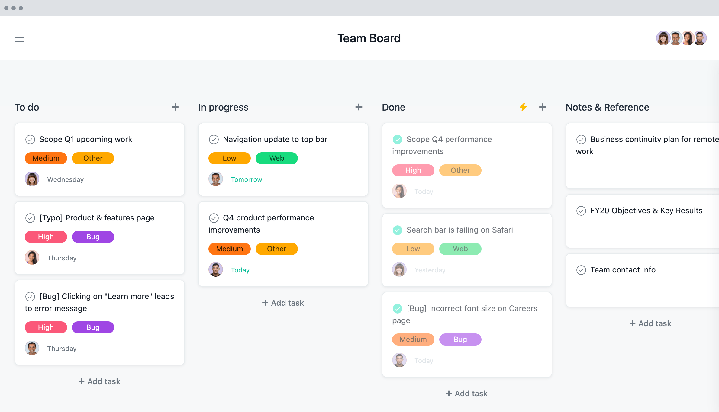 Asana 온라인 프로젝트 관리 소프트웨어는 팀을 위한 할 일 목록을 만듭니다