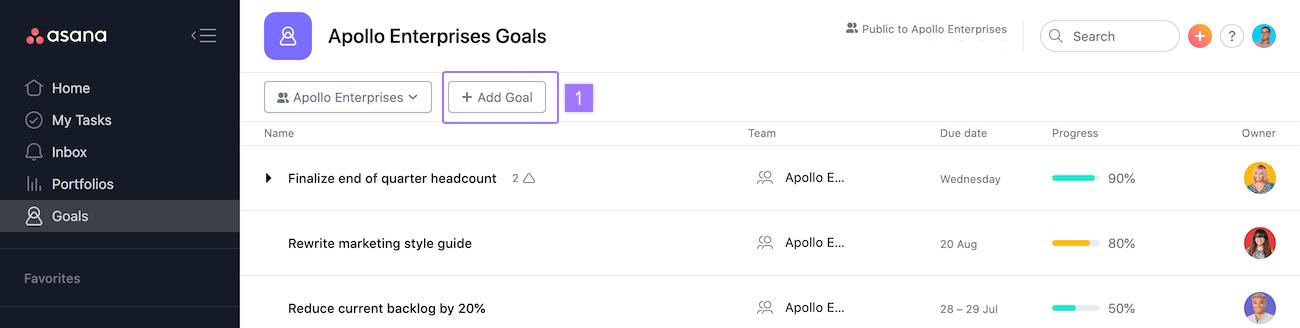 Adding a new Goal