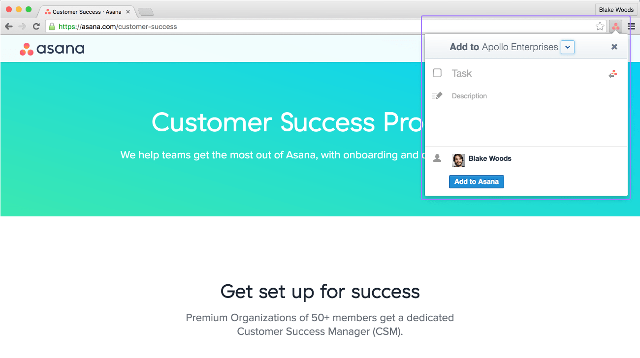 Use Asana's Google Chrome extention and send links directly to Asana