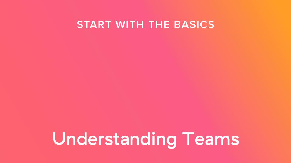 Teams verstehen