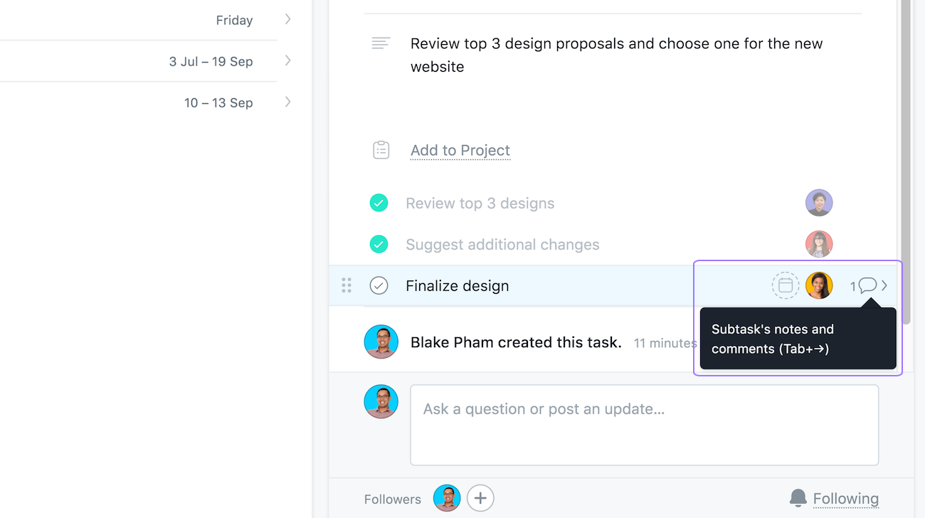 Help with Asana subtasks | Product guide · Asana