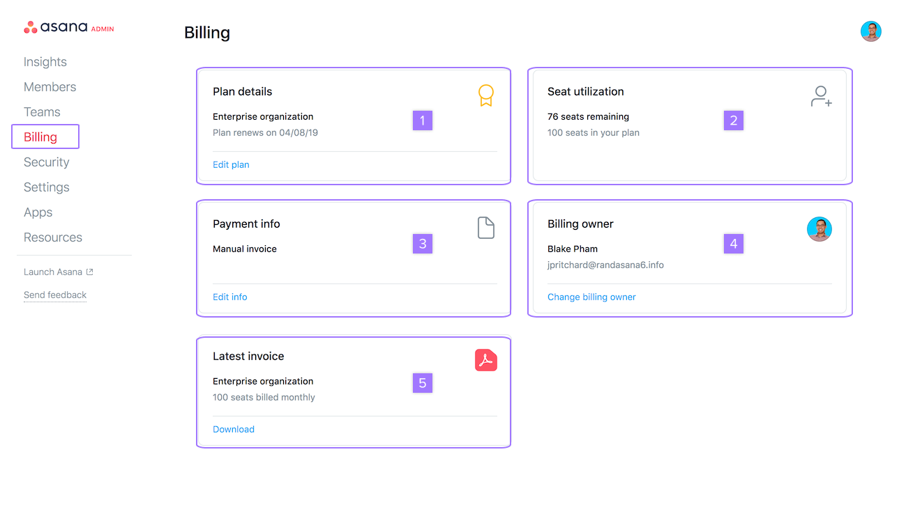 Upgrade & billing options | Product guide · Asana