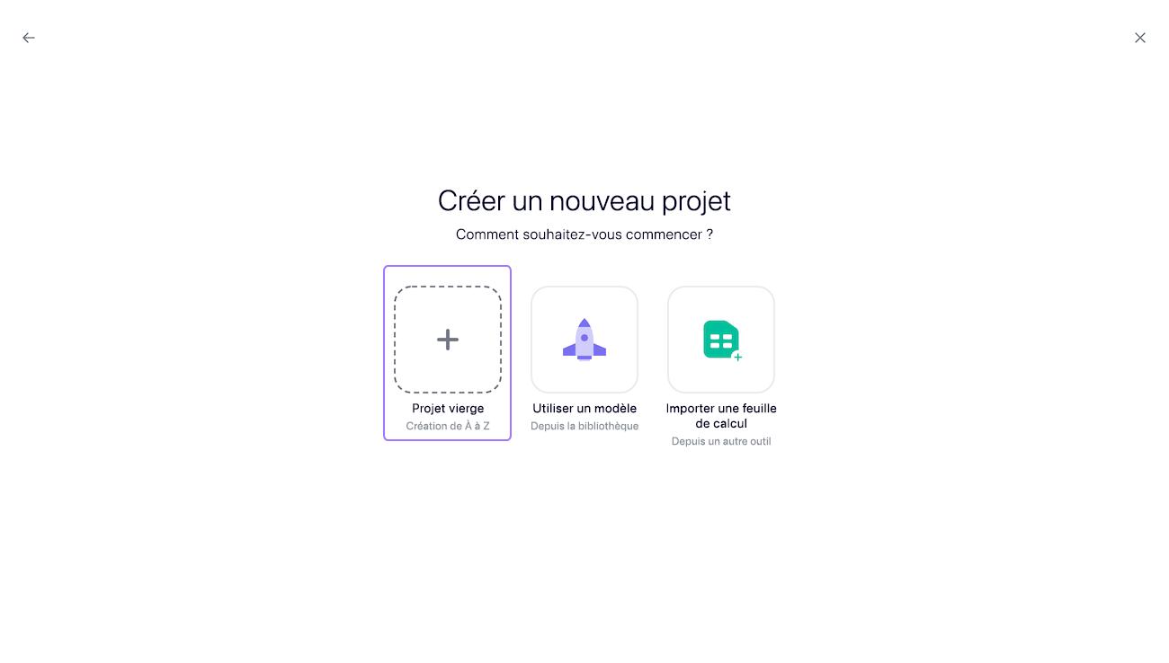 créer un projet2